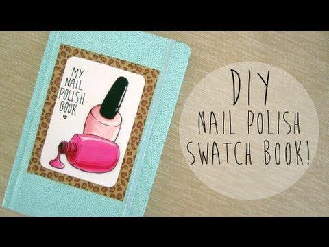 Diy Nail Polish Swatch Book Youtube