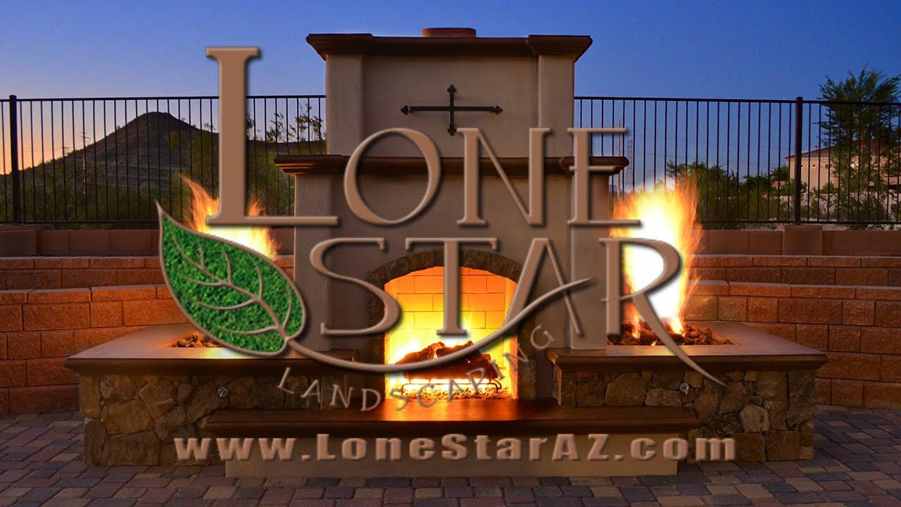 Custom Outdoor Fireplace Time Lapse In Phoenix Az Youtube