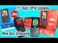 Jio Phone 18 August Update for All users   Whatsapp and Youtube App   New JioPhone Unboxing