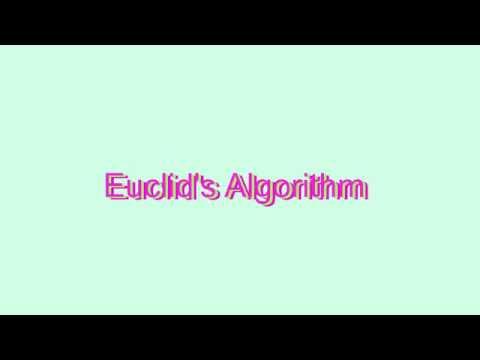 How to Pronounce Euclid