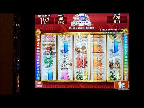 Rawhide Xtra Reward Slot Machine Bonus Win (queenslots)