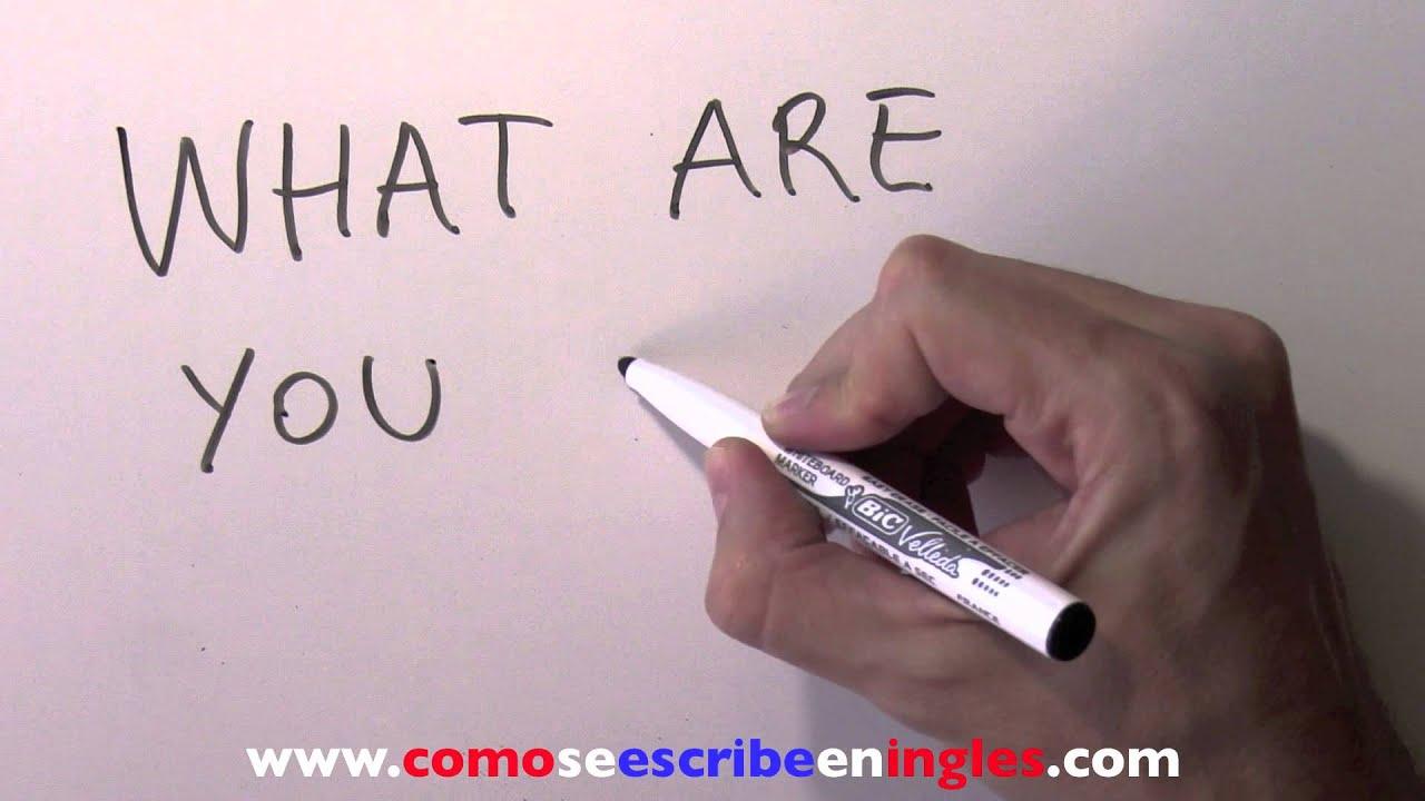 C mo se escribe en ingl s qu haces youtube - Habitacion en ingles como se escribe ...