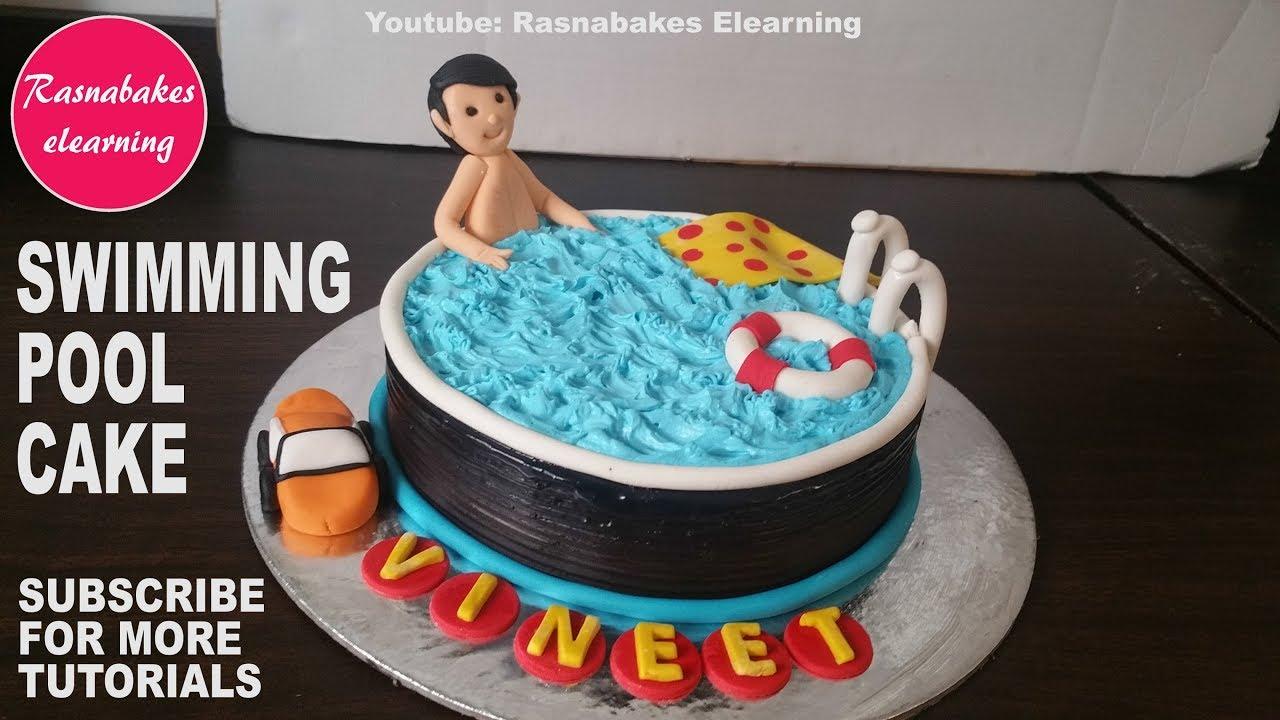 How To Make Swimming Pool Cake Design Happy Birthday Cake Ideas Cake