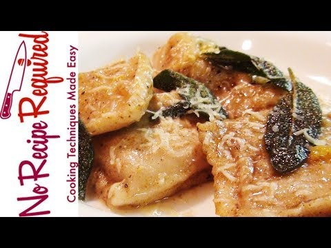Pumpkin Ravioli with Sage Brown Butter Recipe – NoRecipeRequired.com