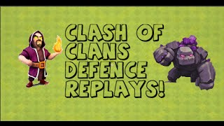 Clash of Clans - Defence Replays & Clash Fail Raid |Barching in Masters|
