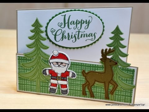 No.238 - Stable Door Christmas Card - JanB UK Stampin' Up! Demonstrator Independent