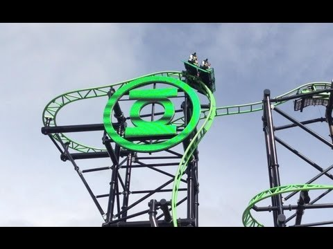 Green lantern the most thrilling ride at movie world, gold coast, theam park, themeparks.com.au