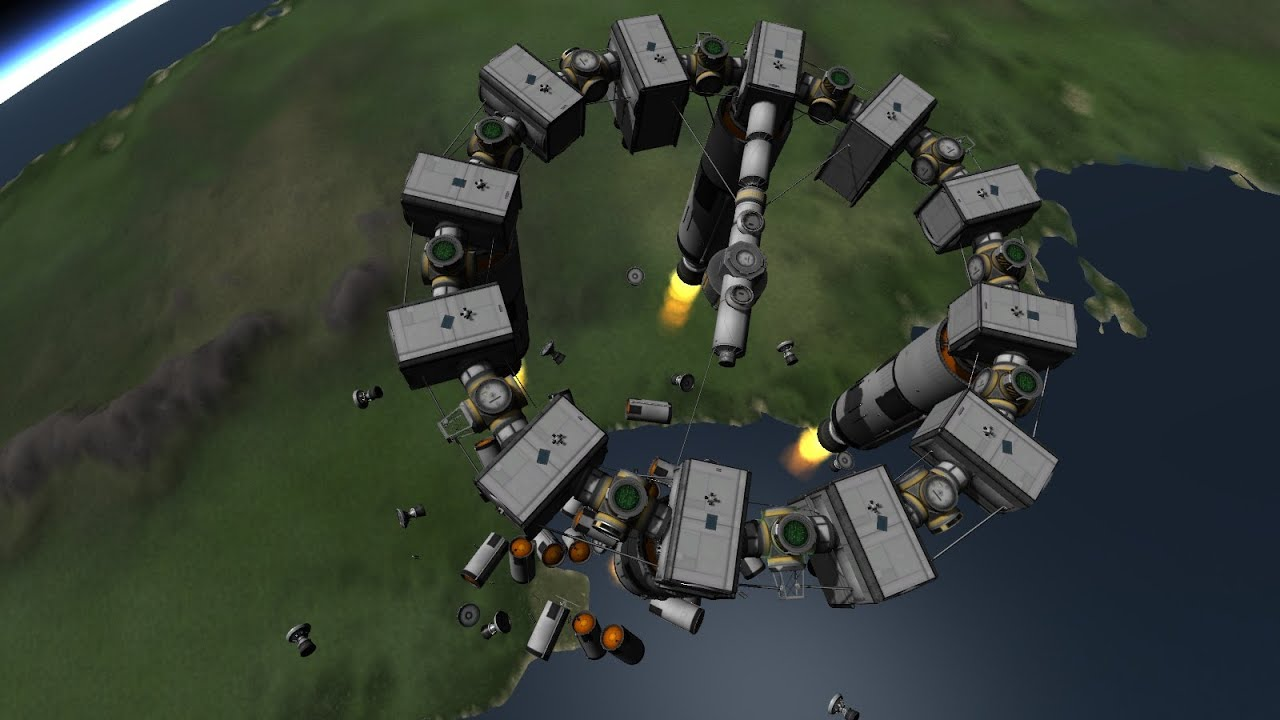 Ksp Interstellar Movie Endurance Spaceship Youtube