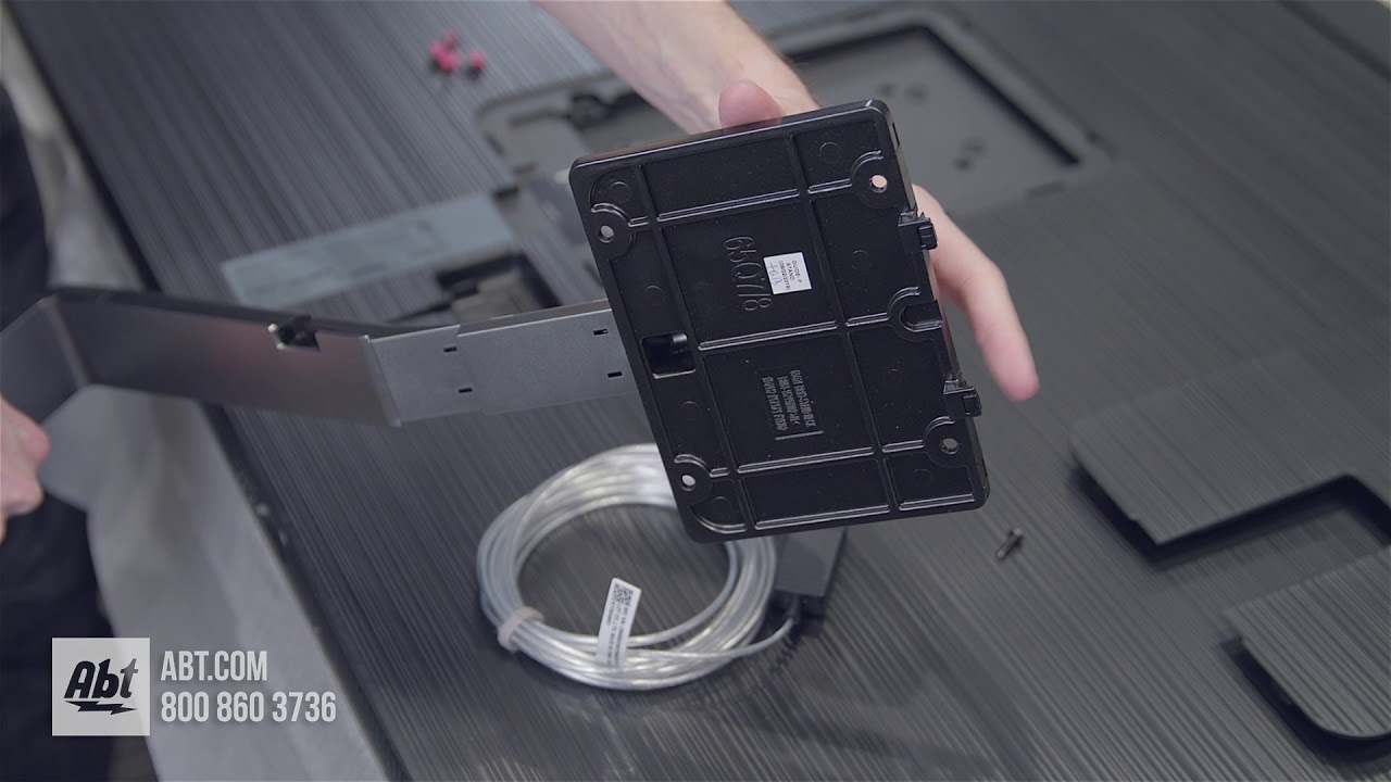 How To Assemble And Install Samsung Qn65q7fn Stand Youtube