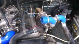 видео Установка турбокомпрессора на УАЗ (402 двигатель)