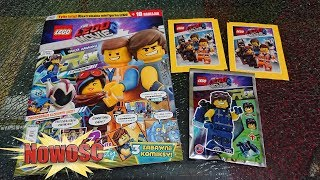 NAJNOWSZY MAGAZYN THE LEGO MOVIE 2 FIGURKA REXA + SASZETKI Z NAKLEJKAMI