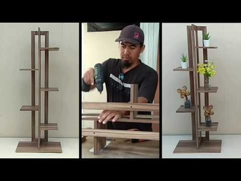 Make A Flower Rack Rak Bunga Dari Kayu Youtube