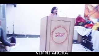 MRS.VIMMI ARORA ADDRESSING THE LARGE GATHERING ON BAAL VEER HAQEEKAT RAI BALIDAAN DIVAS
