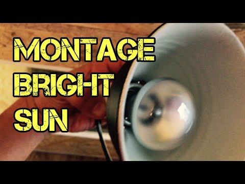 Montage Lampe Bright Sun 50w