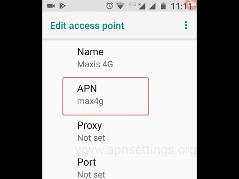 Maxis APN Settings for Android 4G LTE