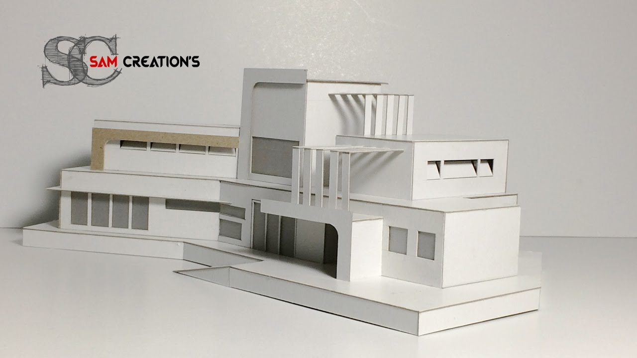 Model making of modern architectural contemporaneity for 3d house model maker