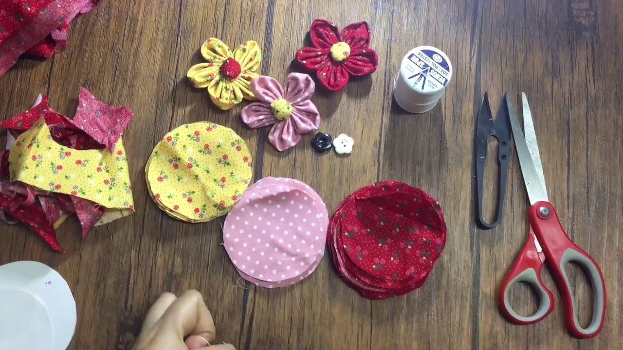 การทำดอกไม้จากเศษผ้า (Flower fabric)