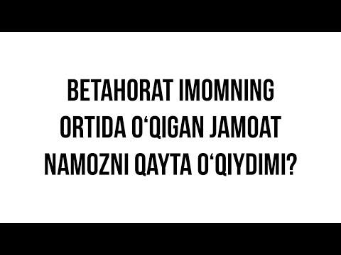 """Savol-javob: """"Betahorat imomning ortida o'qigan jamoat namozni qayta o'qiydimi?"""""""