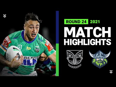 Warriors v Raiders Match Highlights | Round 24, 2021 | Telstra Premiership | NRL