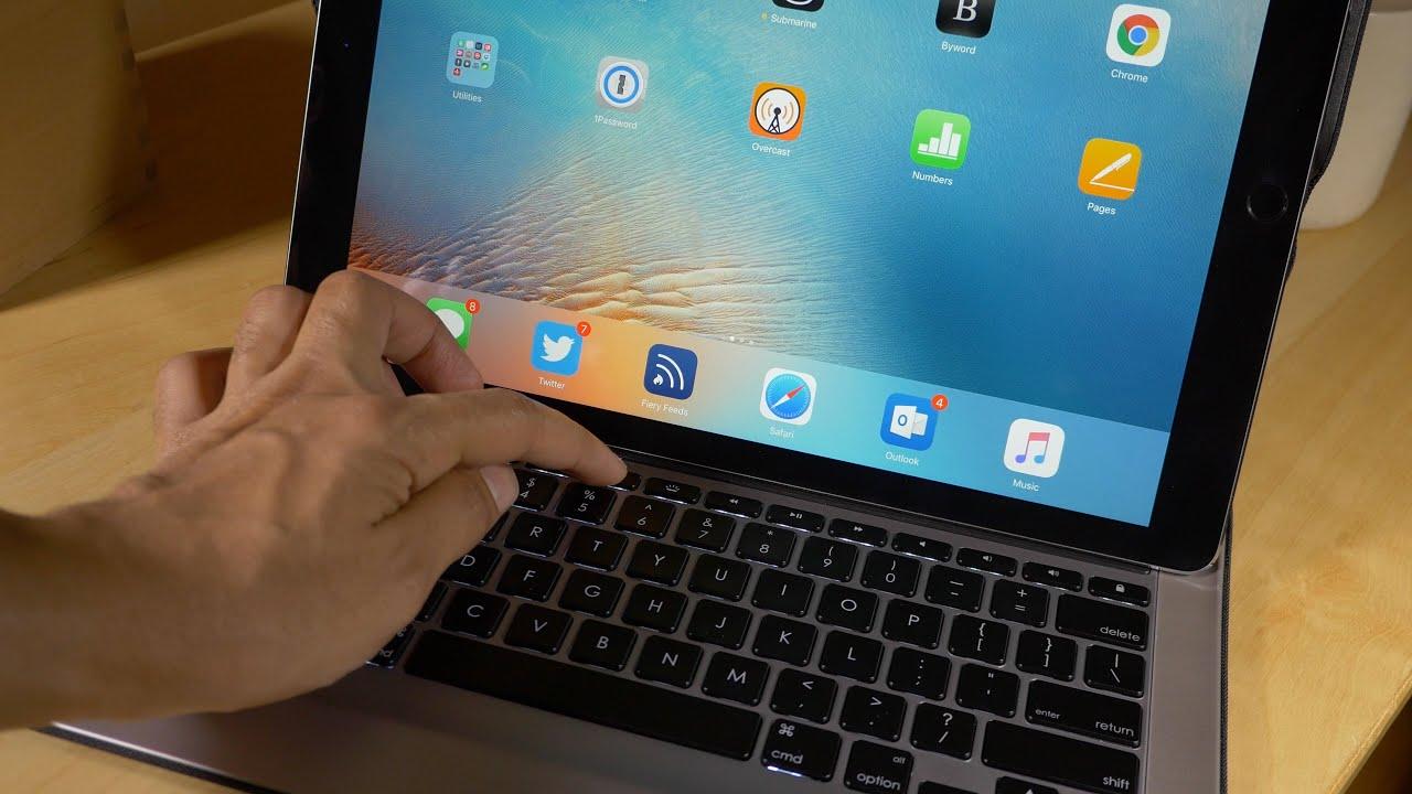 review logitech create backlit keyboard case for ipad pro youtube rh youtube com
