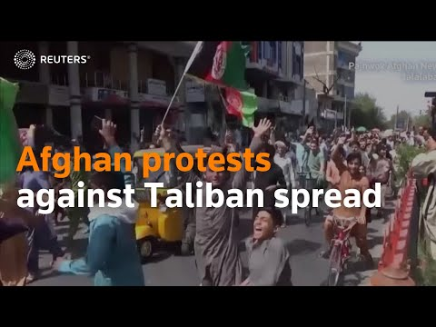 Afghan protests against the Taliban spread, several killed