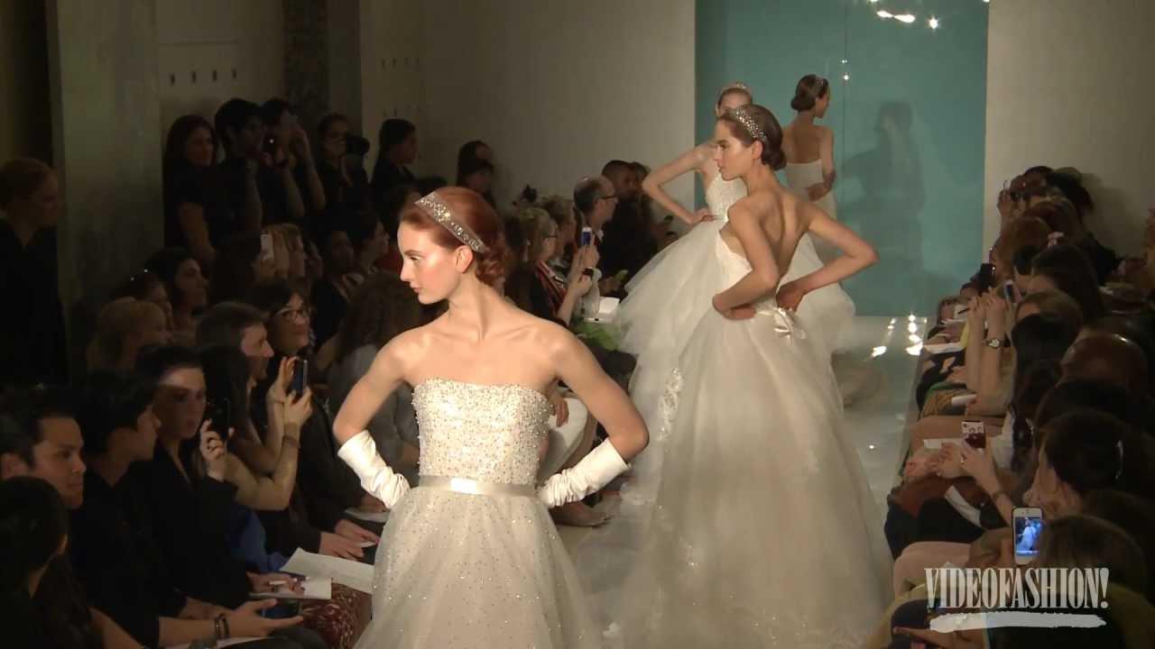 aae1918f06 Reem Acra Bridal Spring 2013 - Videofashion - YouTube