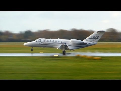 Cessna 525B Citation CJ3 ► Landing & Takeoff ✈ Groningen Airport Eelde