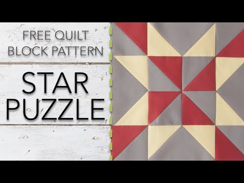 FREE Quilt Block Pattern: Star Puzzle