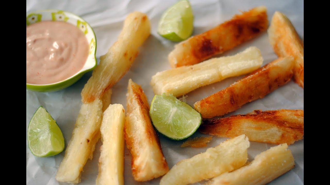 Receta para hacer yuca frita c mo hacer papitas de yuca for Cocinar yuca al horno