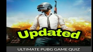Ultimate Pubg game quiz answers | Latest Updated Version | All 25 Questions screenshot 1