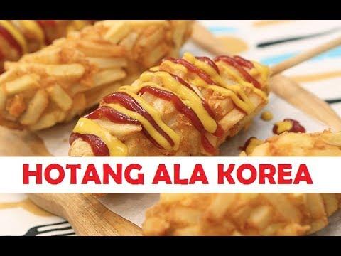 Cara Membuat Hotdog Kentang Hotang Ala Korea