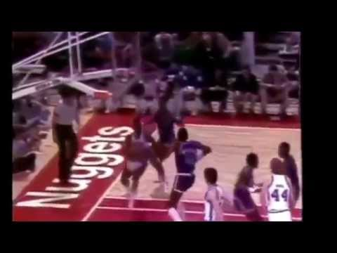 Nba David Thompson Touches The Top Of The Backboard 50 inch vertical