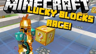 Minecraft: LUCKY BLOCK CHALLENGE RACE (SINGLEPLAYER SPEED TEST) Mod Showcase
