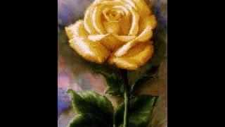 Вышивка бисером: Роза СБ 001 на авторской канве от Чаривна мить