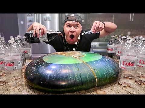 WUBBLE BUBBLE DIET COKE MENTOS EXPERIMENT! *EXPLOSION*