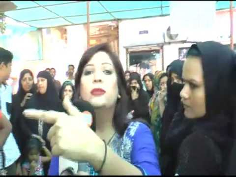 K21 News Anchor Saima Kanwal slapped by Karachi NADRA office guard