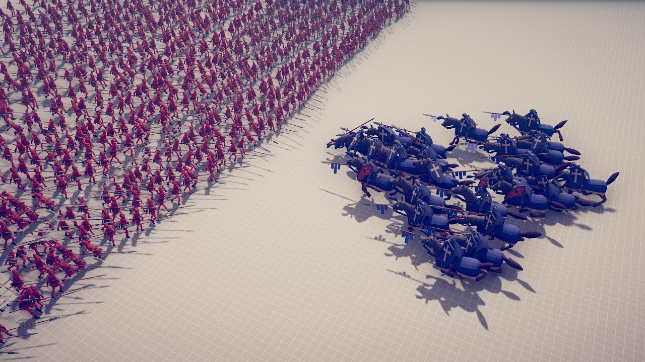 CAVALRY CHARGE vs ARMIES – Totally Accurate Battle Simulator TABS