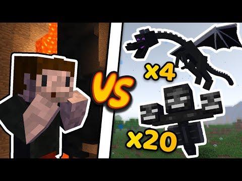 ZIO vs 21 WITHERÓW (i 4 smoki) - Minecraft Caveblock 2.0 thumbnail