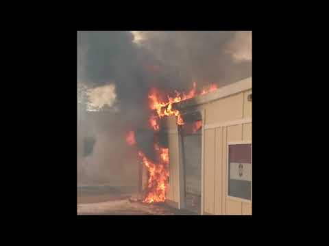 Small businesses burning in Santa Rosa fire Oct 10 2017