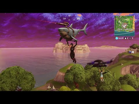 NEW! Shark Glider/Laser Chomp  and Diving Skins! Gameplay Fortnite Battle Royale Season 5