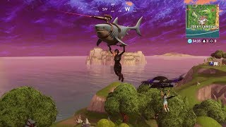Nouveau! Shark Glider/Laser Chomp et Diving Skins! Gameplay Fortnite Battle Royale Saison 5