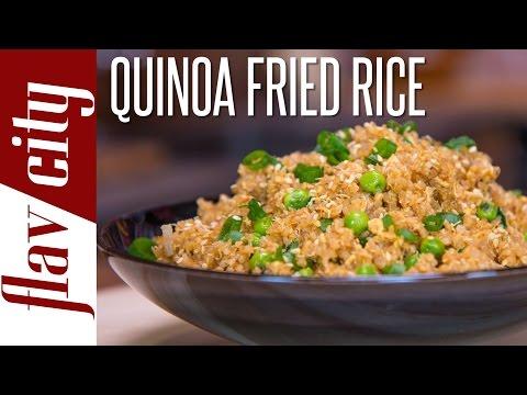 Quinoa Fried Rice Easy Quinoa Recipe FlavCity with Bobby