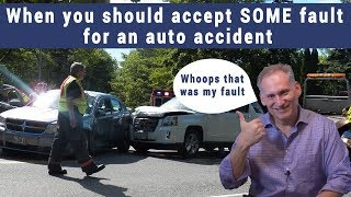 When should you accept partial fault for an auto accident
