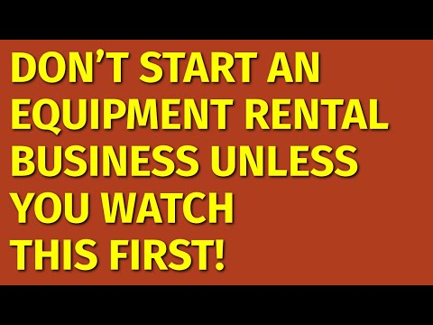 How to Start a Equipment Rental Business | Including Free Equipment Rental Business Plan Template