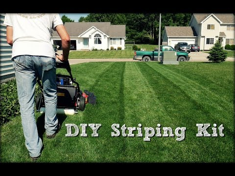 Lawn Striping - DIY Striping Kit Build and Demonstration