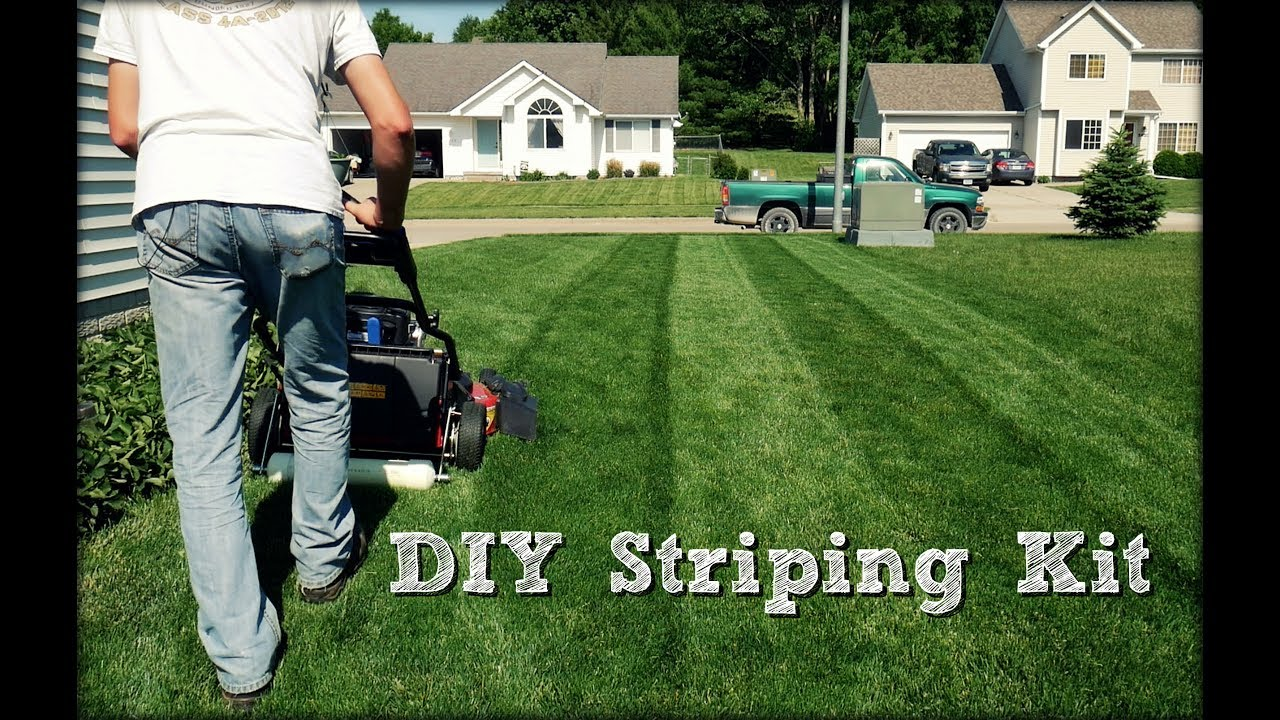 Lawn Striping Diy Striping Kit Build And Demonstration