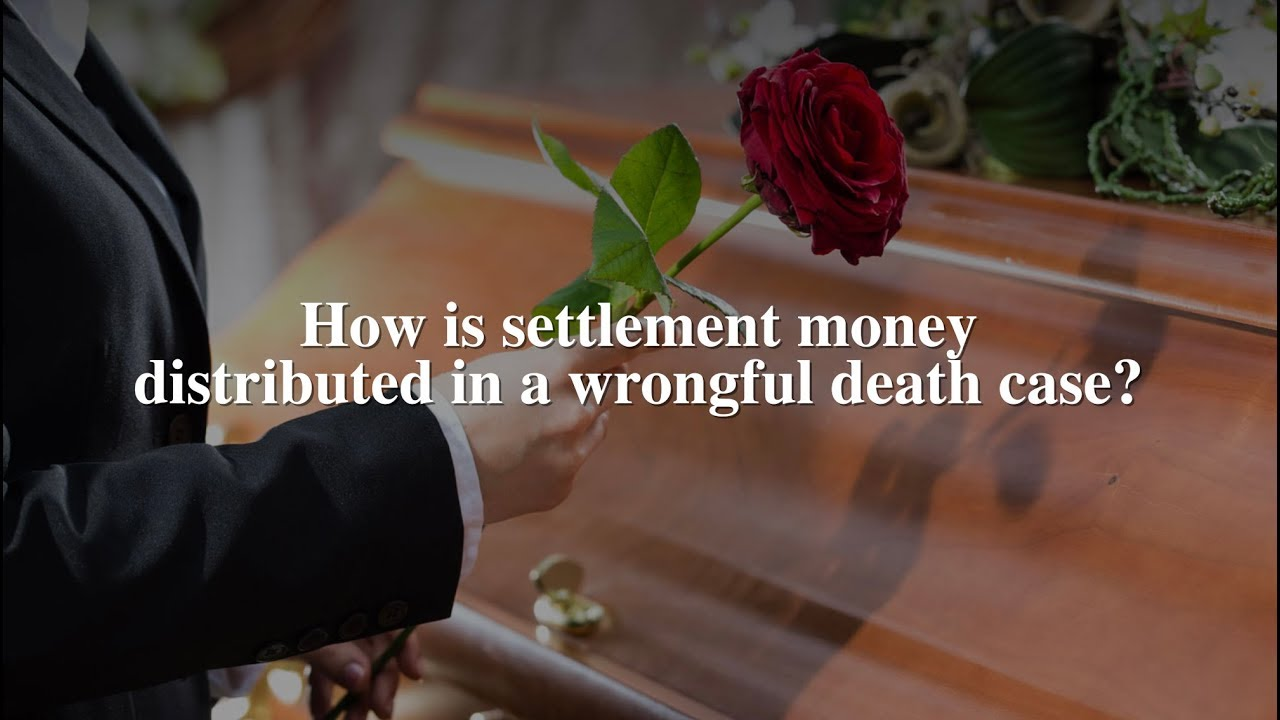 How is settlement money distributed in a wrongful death lawsuit?