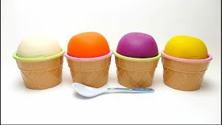 Play Doh Ice Cream Cups with Toys & Surprise Eggs