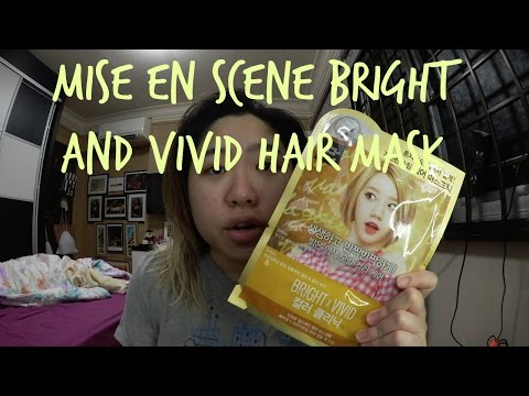 MISE EN SCENE bright and vivid hair mask review