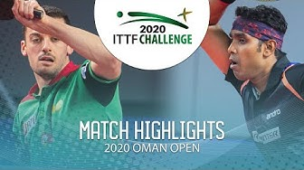 Marcos Freitas vs Achanta Sharath Kamal | 2020 ITTF Oman Open Highlights (Final)
